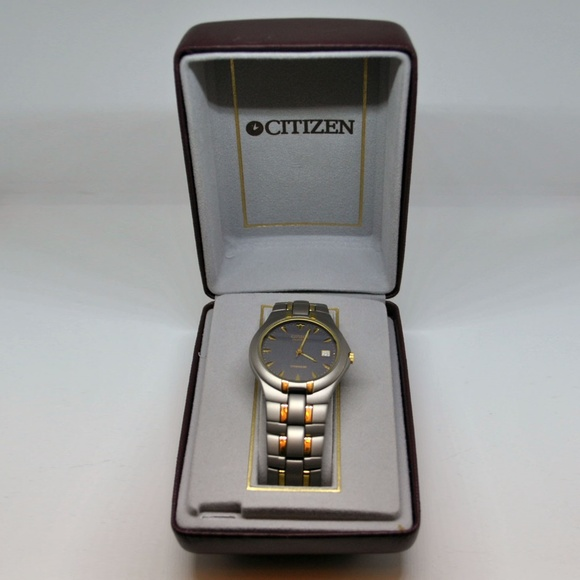 c16c41b28a0 Citizen Other - Men s CITIZEN Quartz Titanium Two Tone Wrist Watch